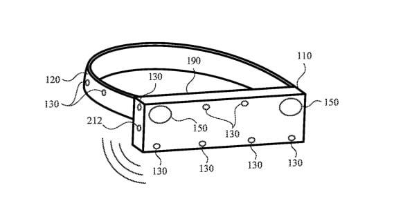 Une figure du brevet montre des microphones dans différentes directions.
