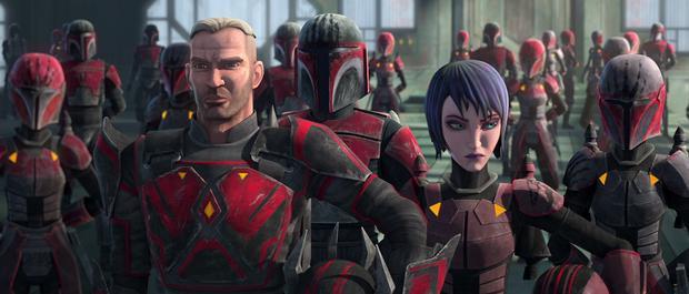 Rook Kast portant son armure rouge classique (Photo: Lucasfilm)