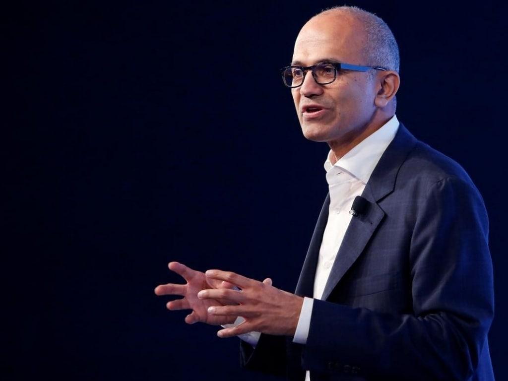 Le PDG de Microsoft, Satya Nadella.  Image: Reuters