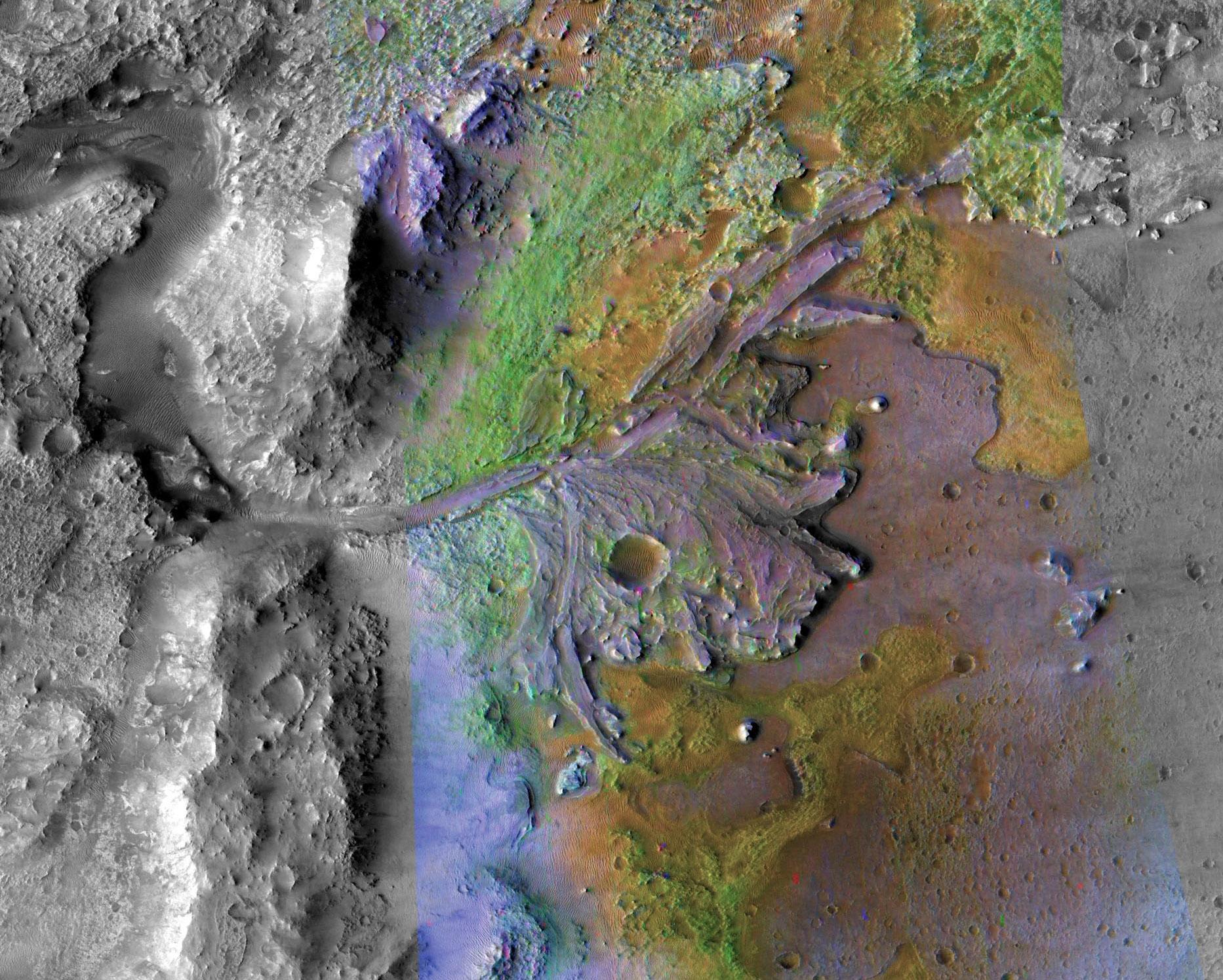 La mission Mars 2020 de la NASA atterrira dans le delta du cratère Jezero à la surface de Mars et collectera des données qui pourraient ajouter à la preuve que la planète était autrefois capable de supporter la vie telle que nous la connaissons.
