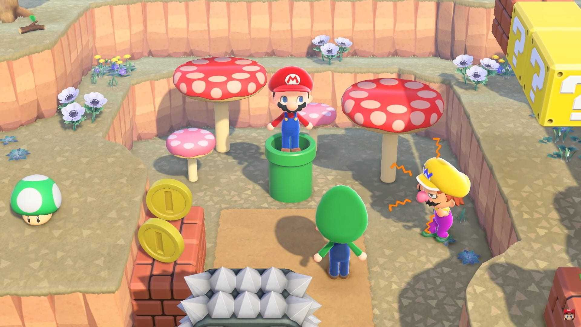 Animal Crossing ACNH Super Mario Bros.