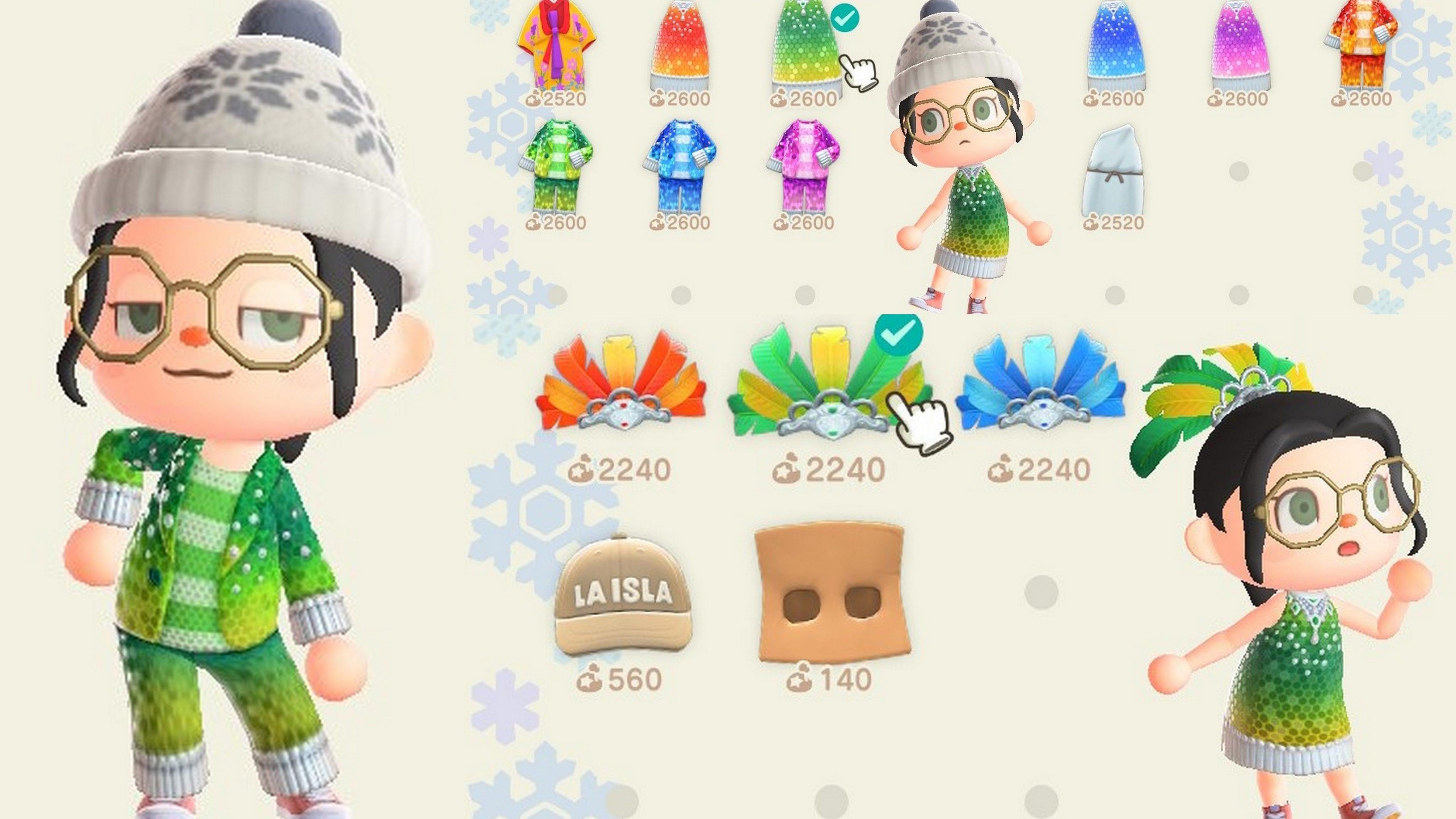 Animal Crossing New Horizons Tenues Carnaval
