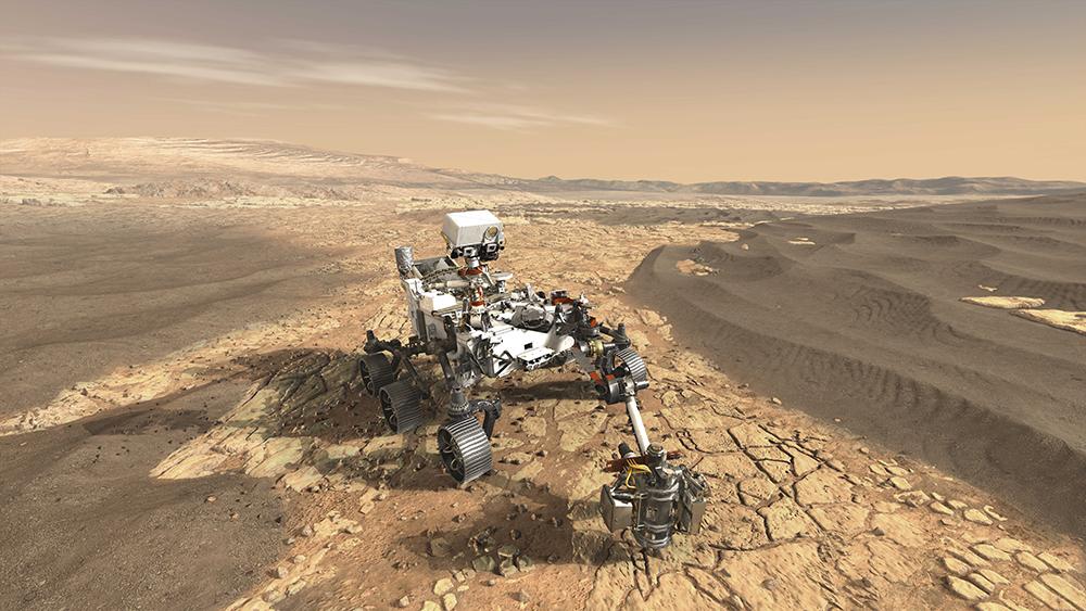 Le rover Mars Perseverance de la NASA recherchera des signes de vie microbienne passée.
