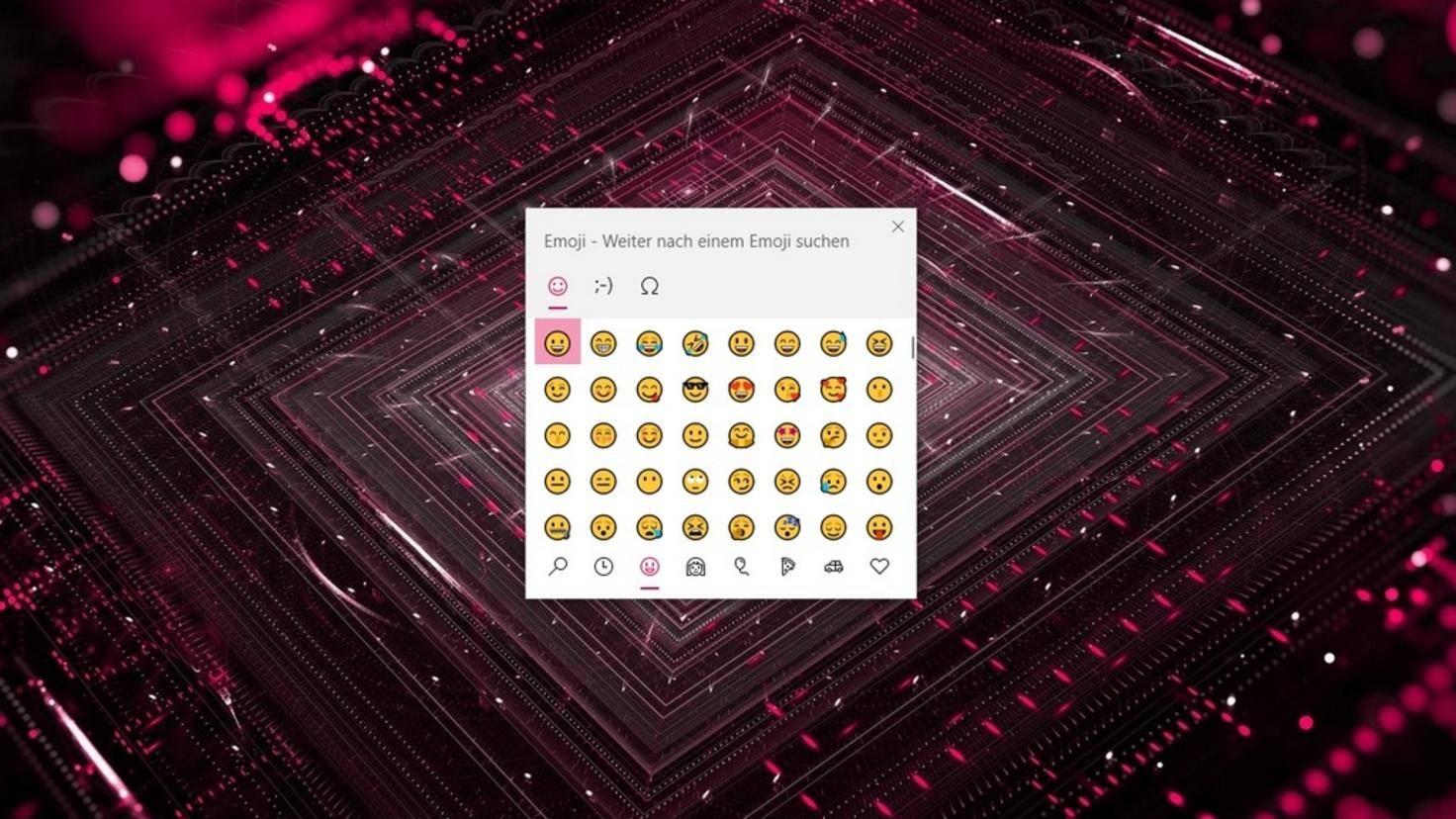 Clavier emoji Windows 10
