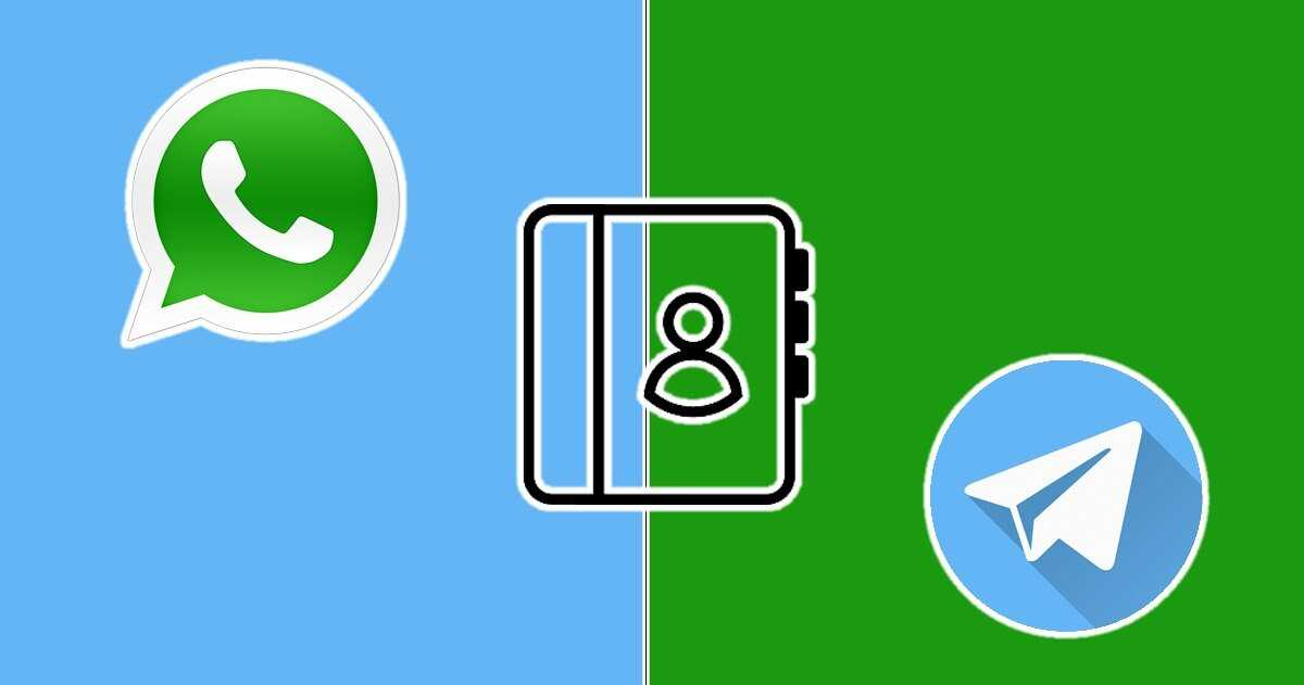 Contacts WhatsApp sur Telegram