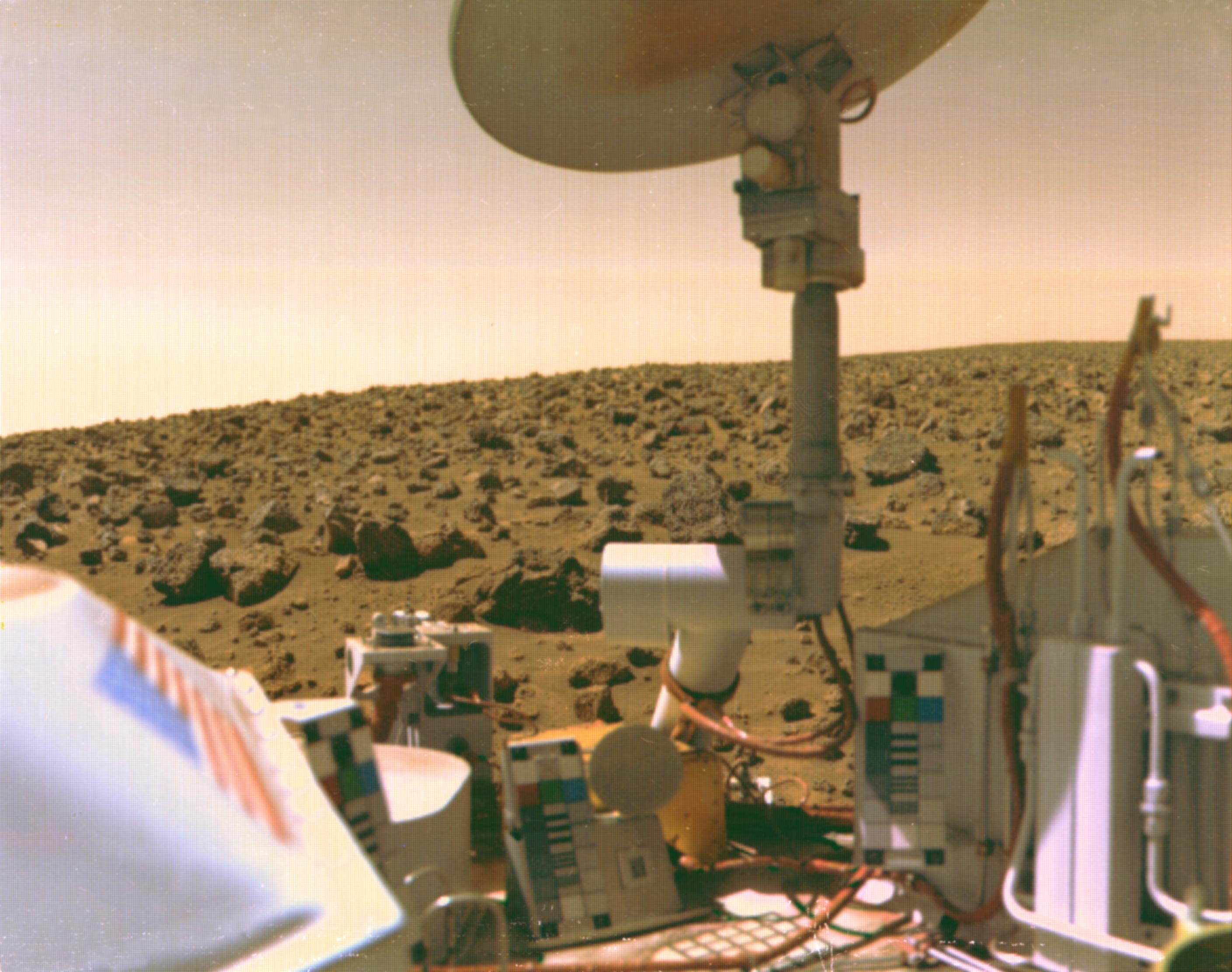 Viking 2 donne sur Utopia Planitia.