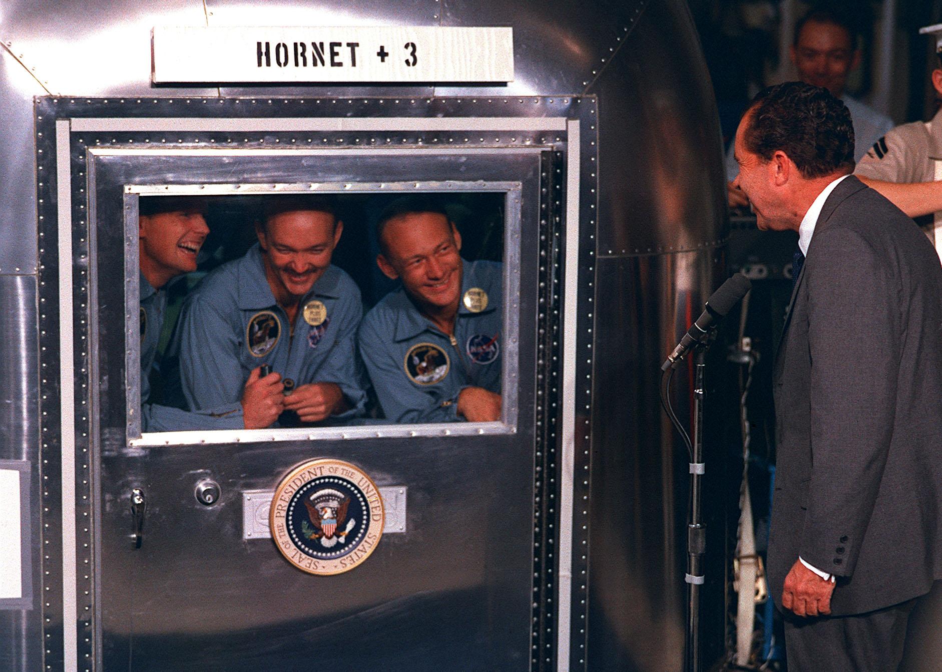 Astronautes d'Apollo 11 en quarantaine