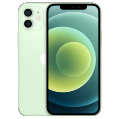 Vue avant de l'iPhone 12 mini vert 1