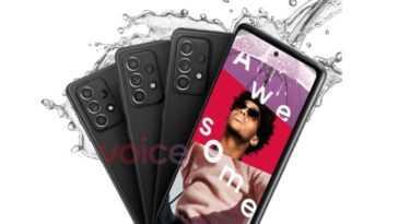 Galaxy A52 5g à Venir Avec La Certification Ip67 Pour