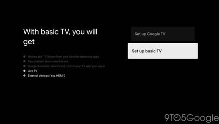 Mode de base de Google TV