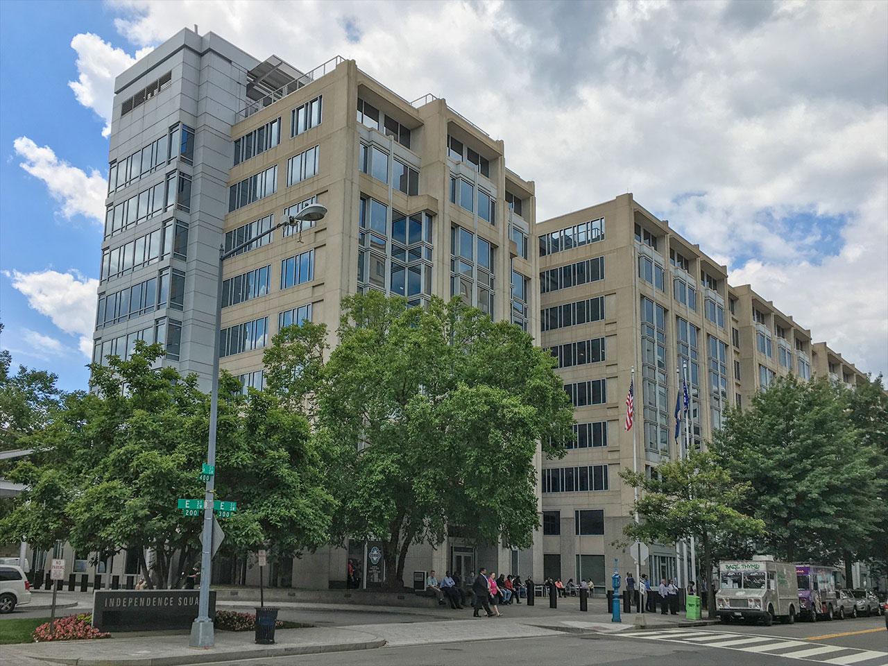Le bâtiment du siège de la NASA Mary W.Jackson est situé le long de Hidden Figures Way à Washington, DC