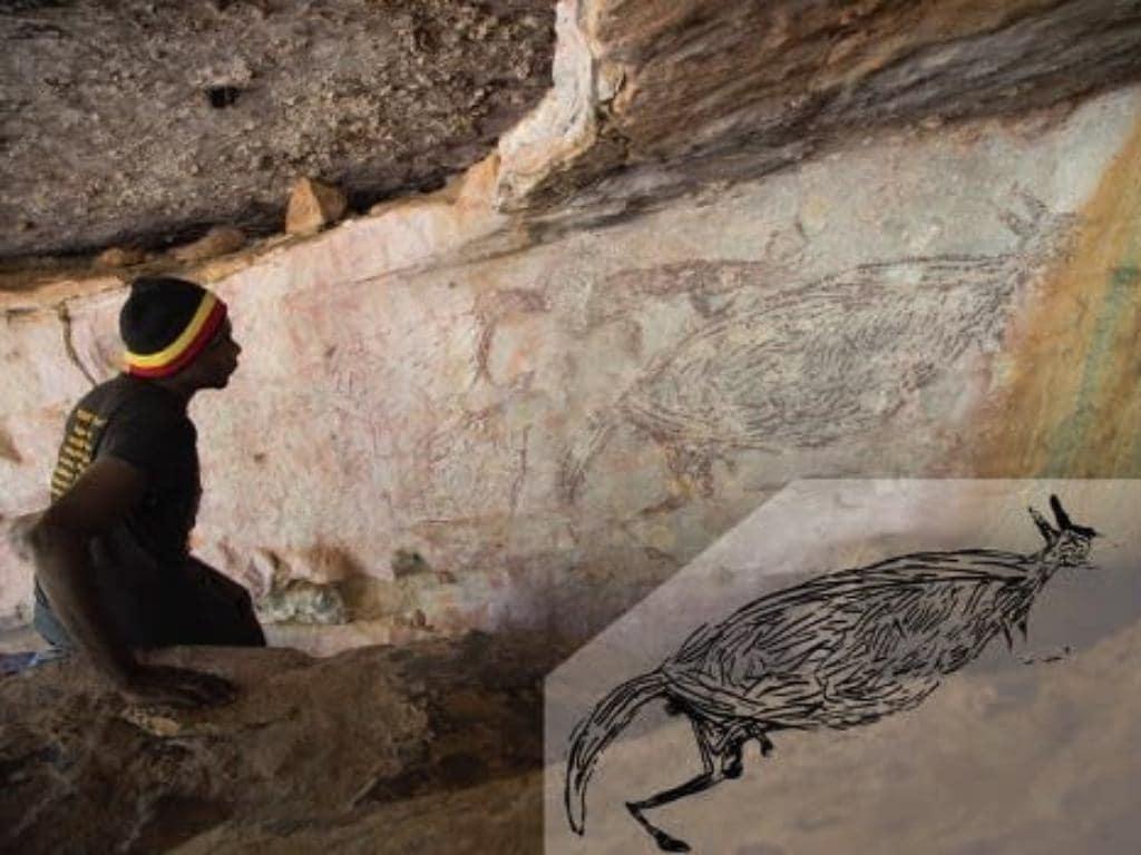 La peinture de kangourou créée il y a 17000 ans est le plus ancien art rupestre aborigène