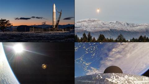 L'Astra's Rocket 3.2 décolle de la côte de l'Alaska le 15 décembre 2020 dans ce montage de photos de mission.