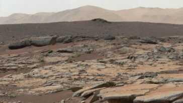 Le Cratère Mars 'gale Il Y A 3 Milliards D'années