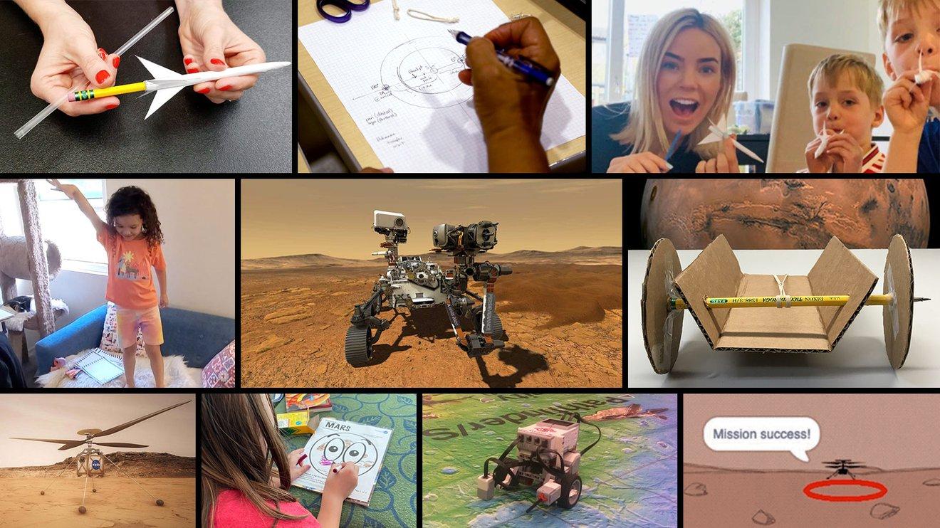 """De la NASA """"Mission sur Mars"""" challenge propose des activités pédagogiques guidées aux étudiants pour célébrer le débarquement prochain du rover Perseverance de l'agence sur la planète rouge."""