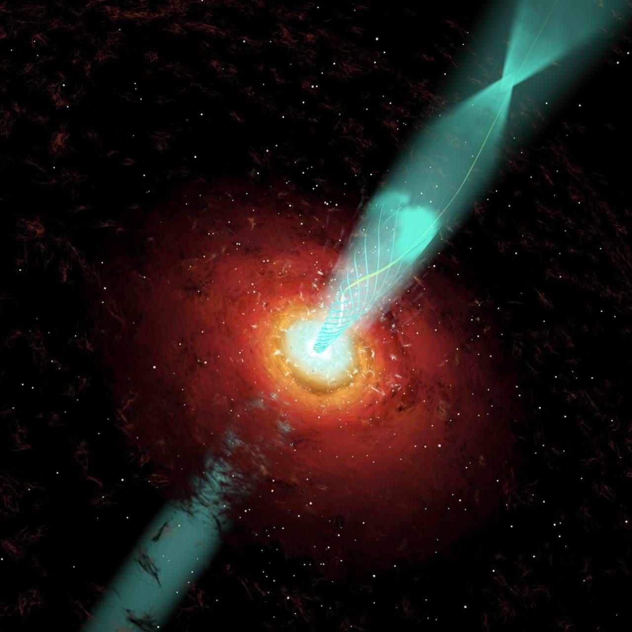 Les astronomes de DST retracent une énorme éruption optique d'un trou noir supermassif découvert dans les années 1960