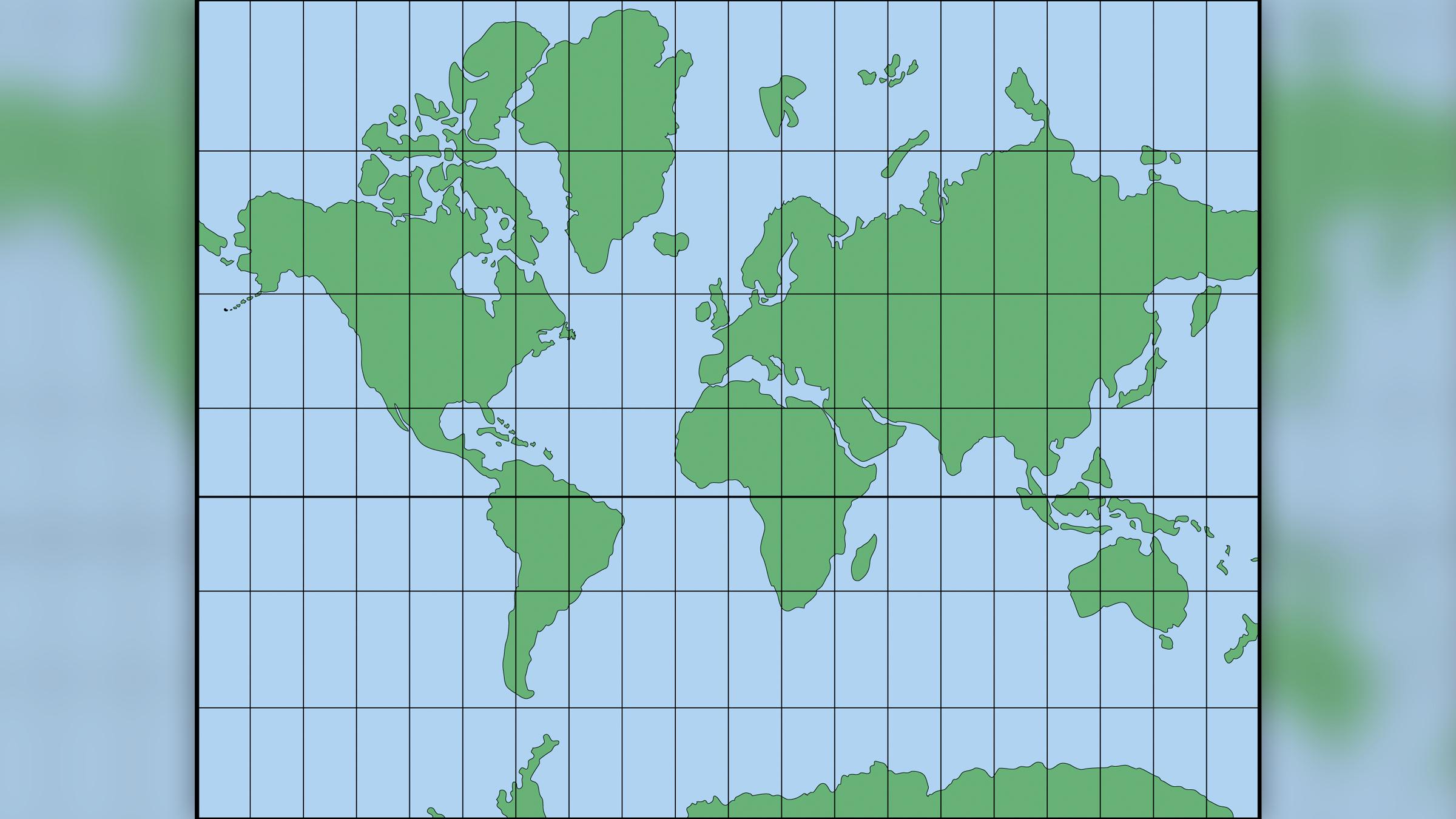 La projection Mercator, créée en 1569 par le géographe néerlandais Gerard Mercator, a aidé les marins à naviguer dans le monde.