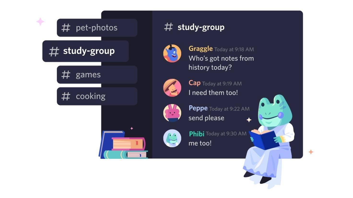 groupes de discussion discord