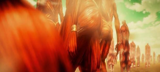 Zeke prévoit d'utiliser les millions de titans colossaux cachés dans Paradis pour activer un test du Rumble (Photo: Studio Mappa)