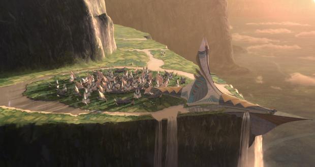 Les falaises, les prairies et les montagnes sont l'endroit idéal pour la Togruta (Photo: Lucasfilm)