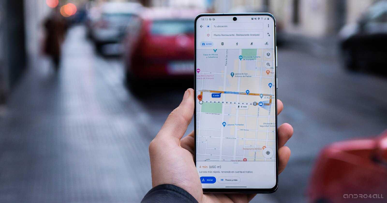 Google Maps sur un mobile Android