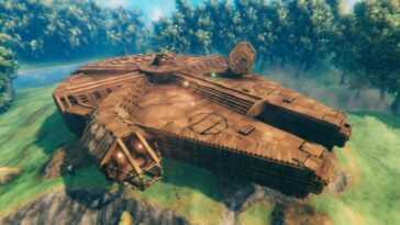 Un Joueur De Valheim Construit Millennium Falcon De Star Wars