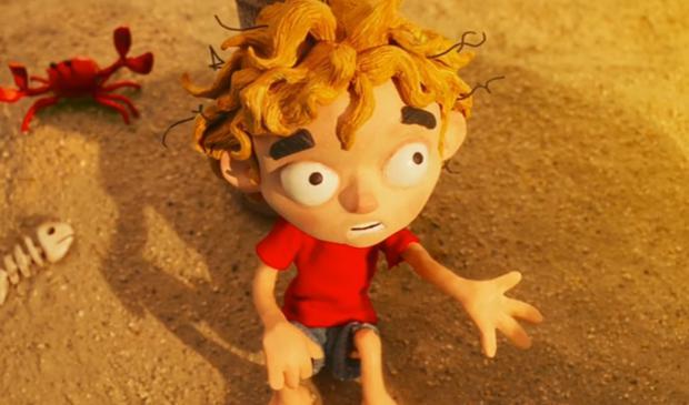 Le garçon est échoué sur une île seul sans eau ni nourriture (Photo: Disney Plus)