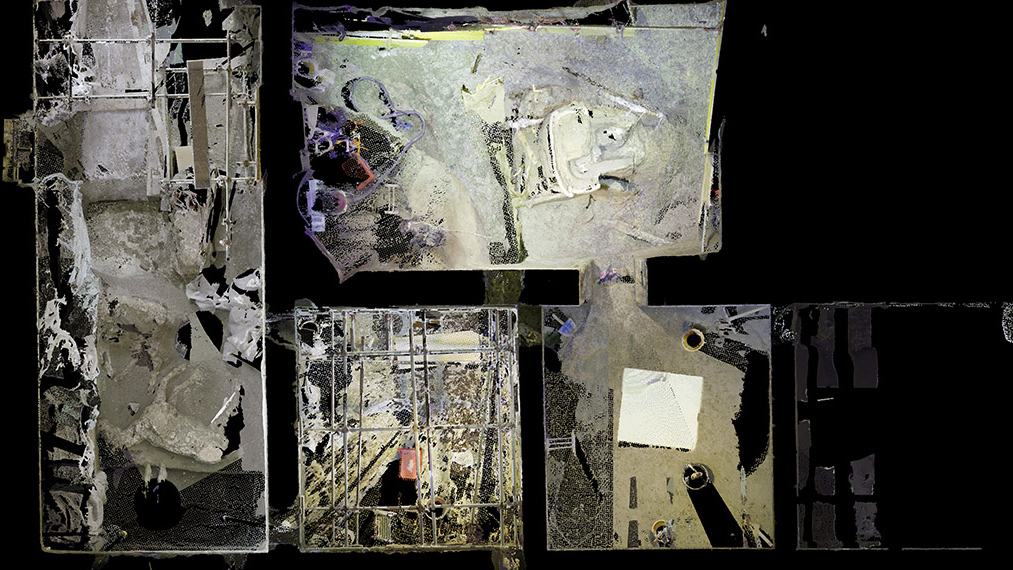 Les archéologues ont utilisé des scans laser pour imager les éléments du char et la riche villa des murs de Pompéi où il a été déterré.