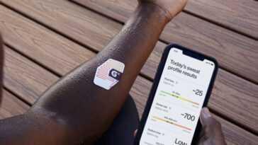 Cet autocollant Gatorade est un portable - il analyse la transpiration pour dire aux athlètes comment et quand s'hydrater