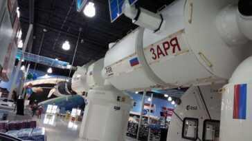 La Station Spatiale Internationale Simulée Pleine Grandeur Ferme Avec La