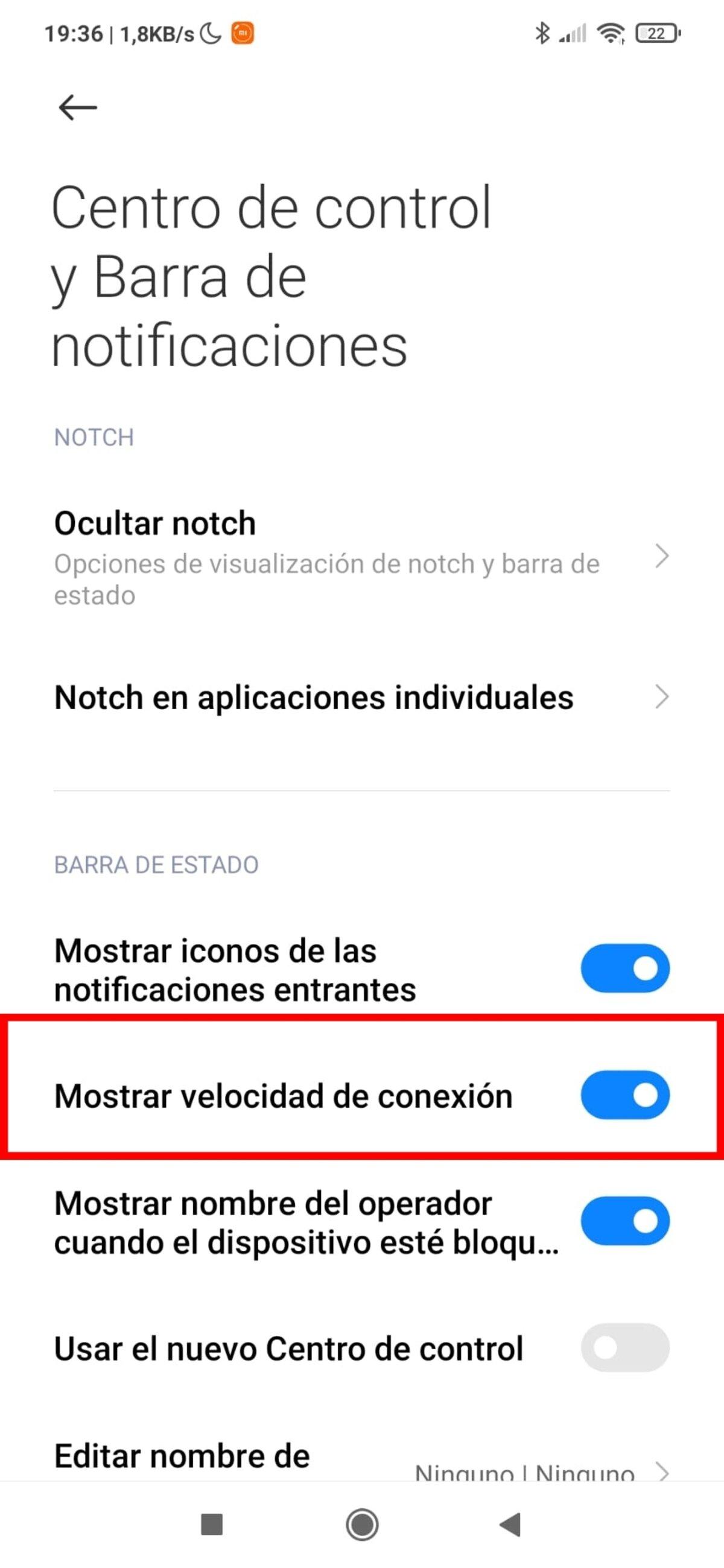 Vitesse de connexion Xiaomi