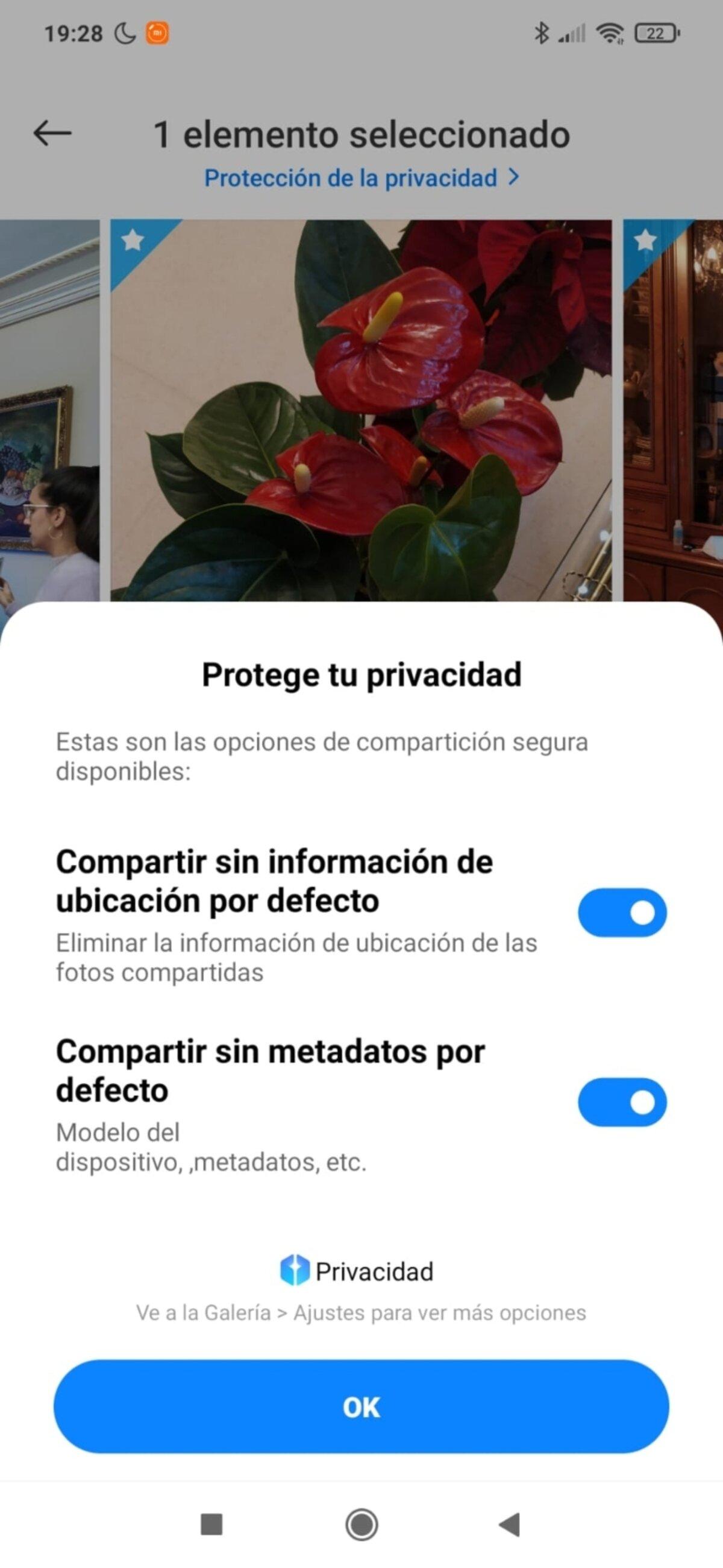 Confidentialité des photos dans MIUI 12