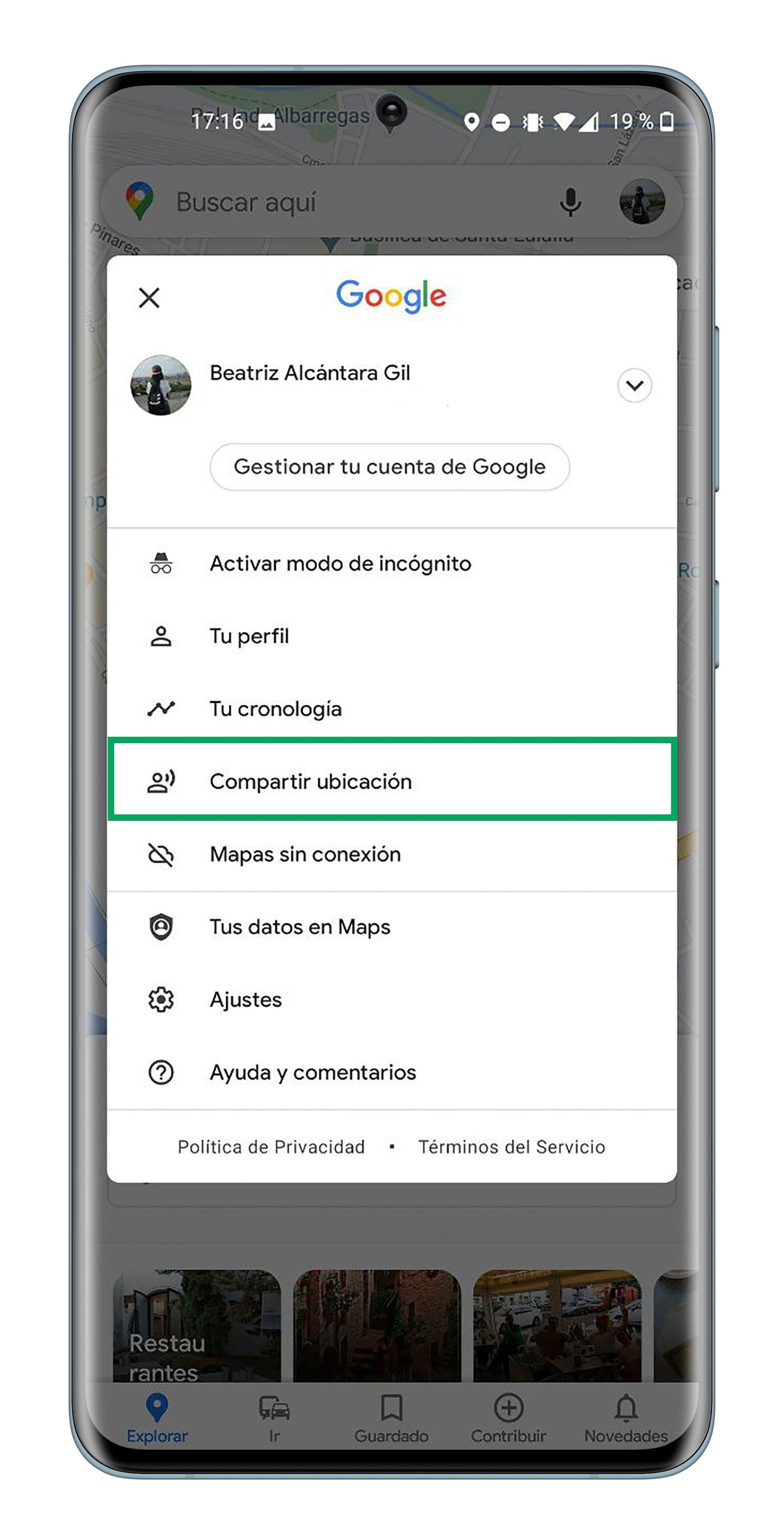 Comment partager votre position en permanence sur Google Maps