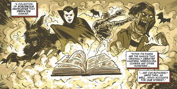 The Darkhold est responsable de la création de loups-garous, de momies, de zombies et de vampires (Photo: Marvel Comics)