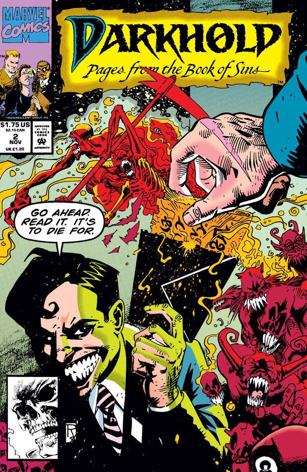 Darkhol a sa propre ligne de bandes dessinées exprimant son pouvoir maudit (Photo: Marvel Comics)