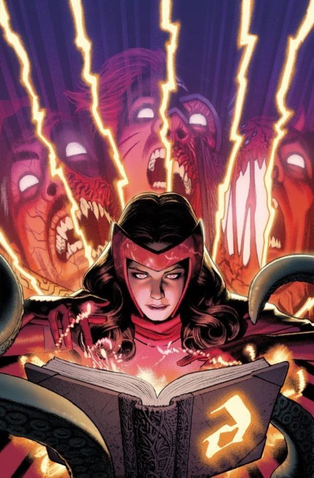 Dans les bandes dessinées, Wanda Maximoff utilise également le Darkhold (Photo: Marvel Comics)