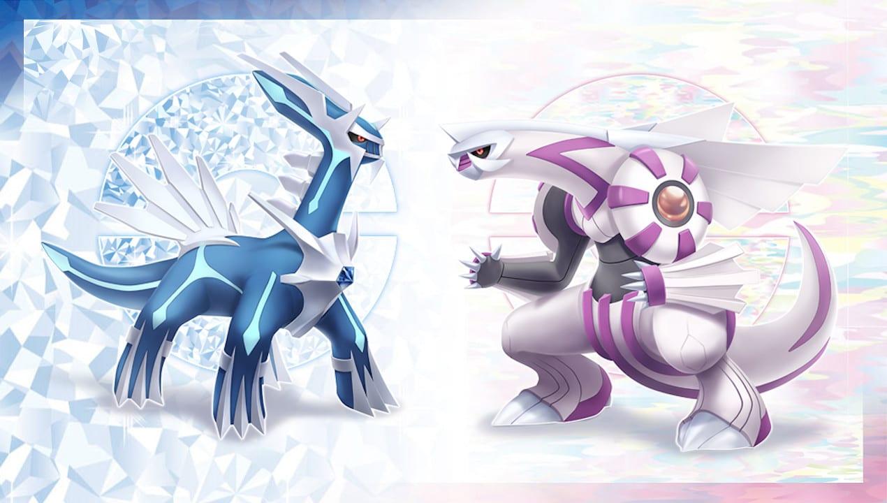 Pokémon Diamant Brillant Perle Lumineuse Dialga Palkia Remakes