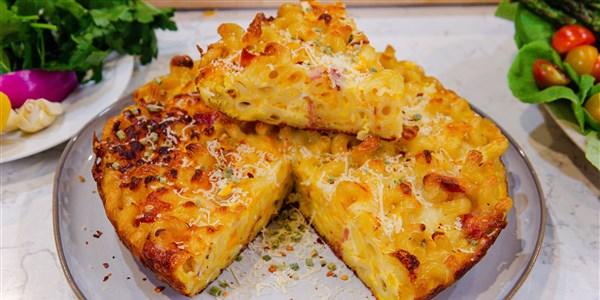 Tarte aux pâtes au fromage