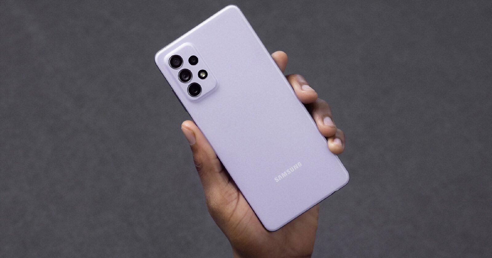 Samsung Galaxy A52 violet, arrière
