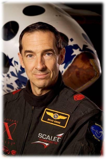 Pilote de SpaceShipOne, Brian Binnie