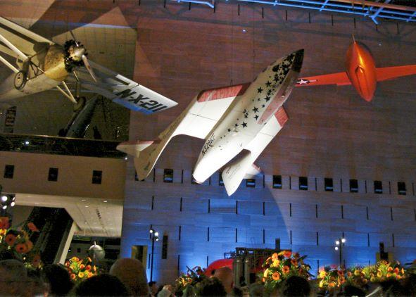 SpaceShipOne en exposition publique au National Air and Space Museum de Washington, DC