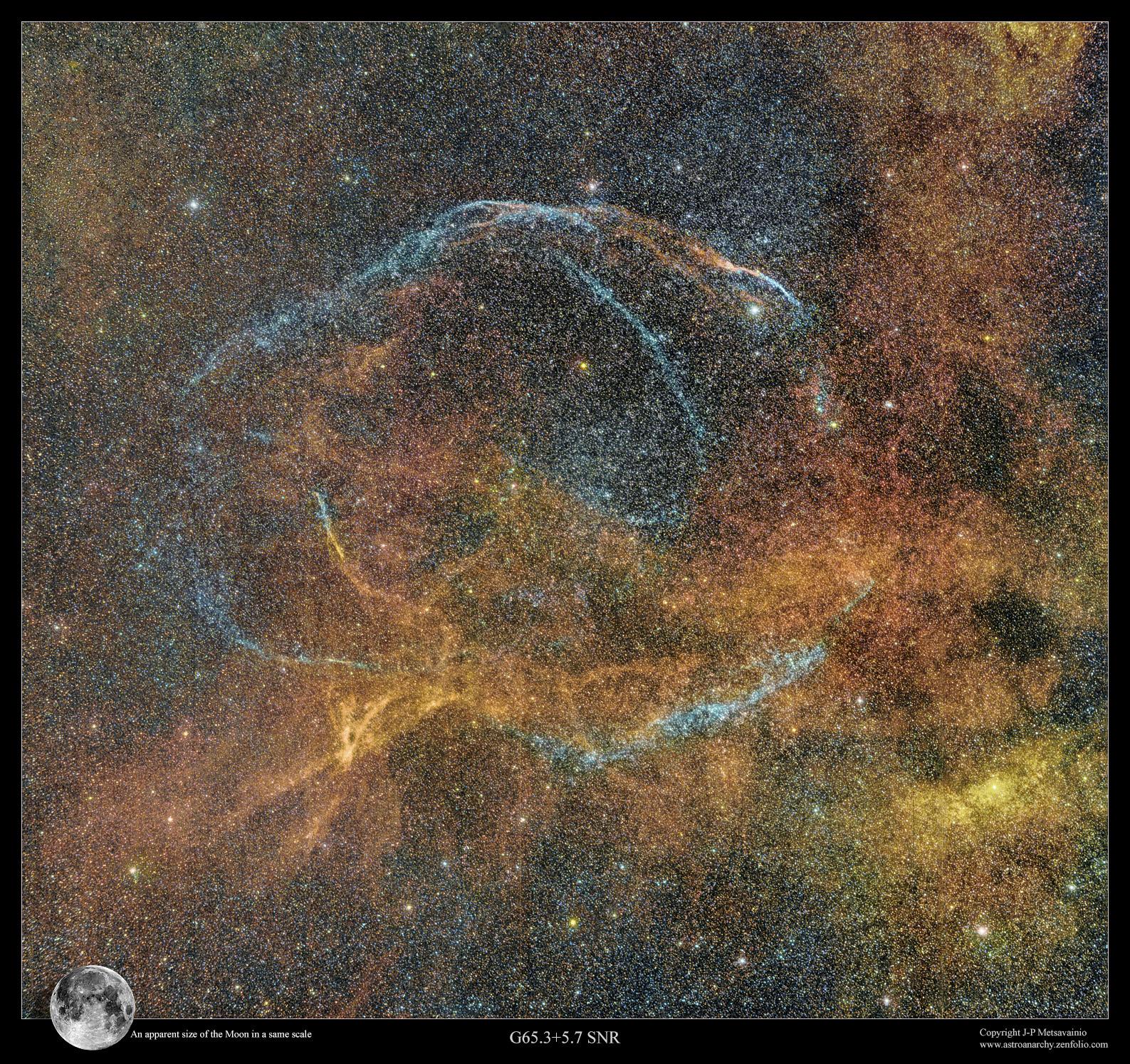 Le reste de supernova G65.3 + 5.7.