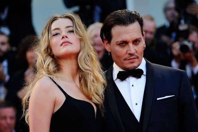 Depp et Heard avant leur divorce en 2016. Crédit: PA