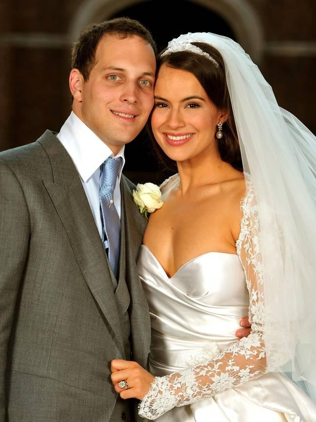 Big Suze alias Sophie Winkleman et son mari le prince Frederick Windsor.  Crédit: PA