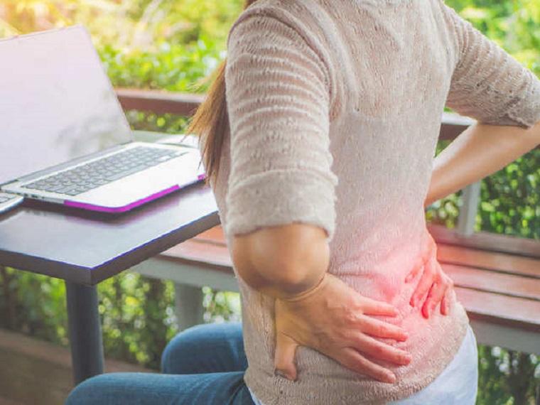 Travail à domicile et maux de dos: