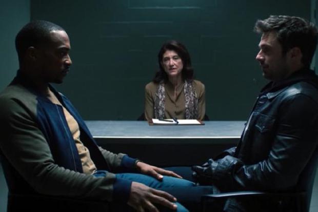Le psychologue de Bucky a obligé les deux super-héros à affronter leurs problèmes (Photo: Disney + / Marvel)