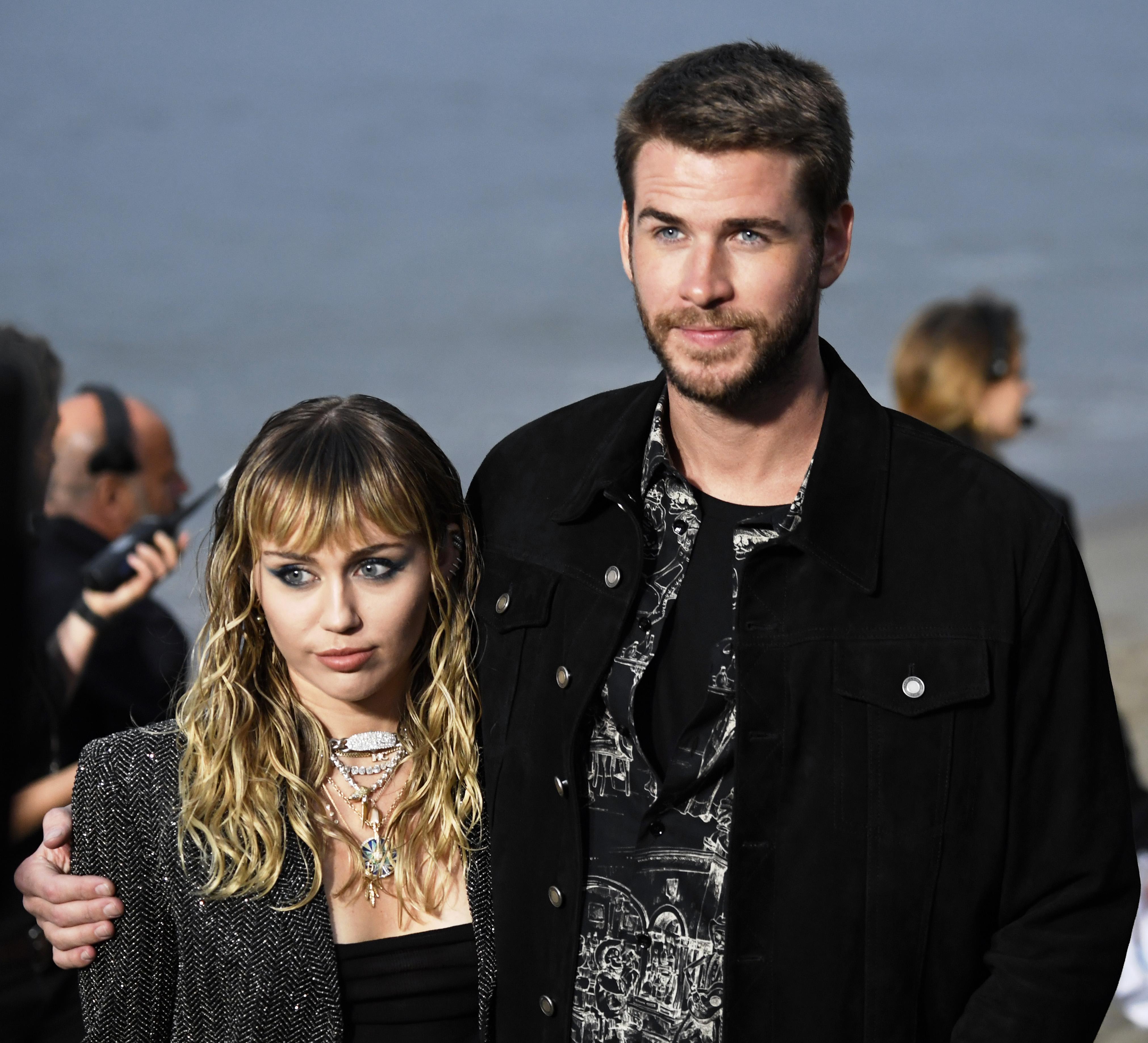 Miley Cyrus et Liam Hemsworth.  Photo: (Getty)