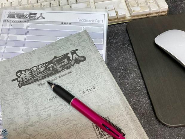 """Image téléchargée par le directeur du son de """"Shingeki no Kyojin"""" indiquant que la partie 1 de Shingeki était déjà prête.  (Photo: Twitter)"""