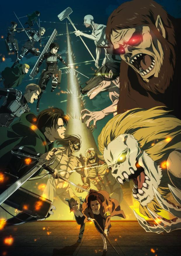 """La dernière saison de """"Shingeki no Kyojin"""" se poursuivra en 2022 (Photo: FUNimation)"""