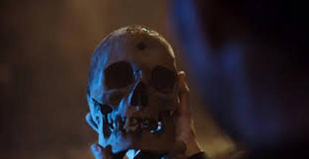 Crâne trouvé dans le jardin Guzmán.  (Photo: Netflix)